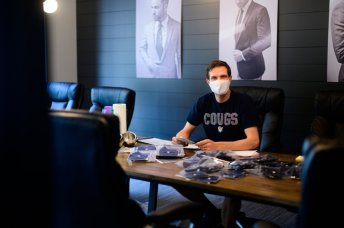 Daniel McConkie pivoting from suits to masks.